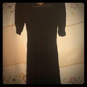 Silk black cocktail dress